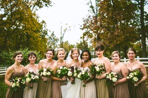 Strapless Neutral Bridesmaid Dresses