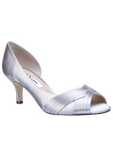 Nina Bridal Contesa_Silver-Satin Black, Green, Ivory, Pink, Red, Yellow Shoe