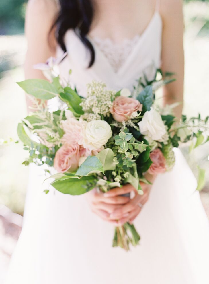 Blush and White Garden Rose Bouquet