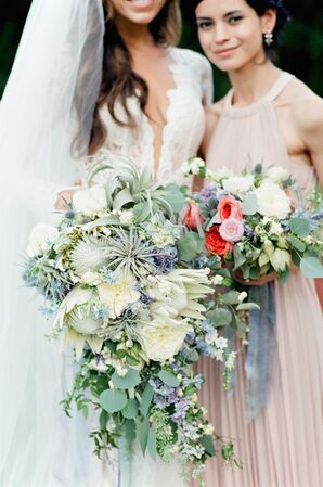 Textured Cascading Bridal Bouquet