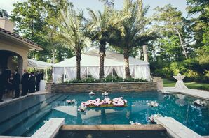 Poolside Cocktail Hour with Floating Decor
