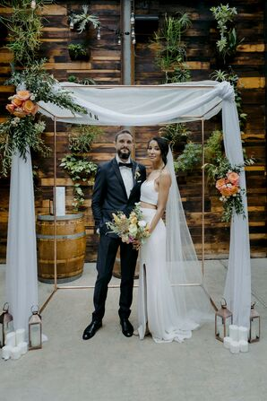 Couple Under Chuppah at Brooklyn, New York, Elopement
