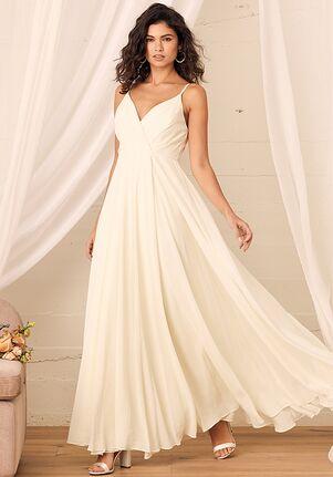 Lulus All About Love Cream Maxi Dress A-Line Wedding Dress