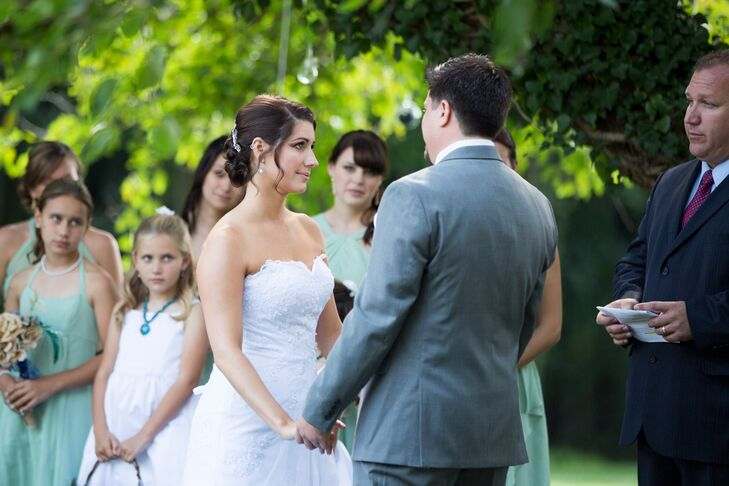 Alison and Chris Antrim 1844 Country House Hotel Wedding Ceremony