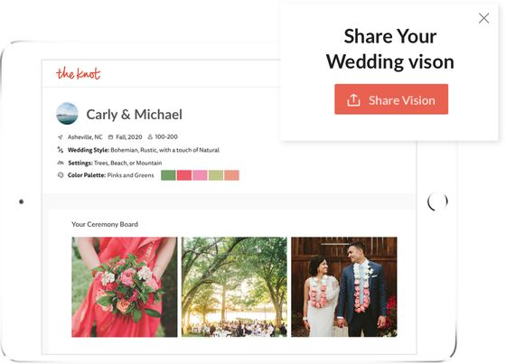 Share Your Wedding Vision by The Knot