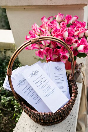 White Programs and Pink Rose Accent