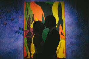 Contemporary Art Museum Wedding Photo