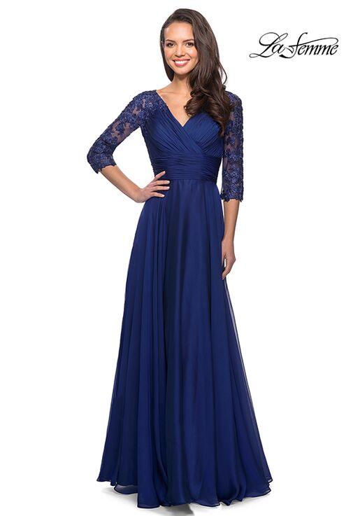 La Femme Evening 27153 Blue Mother Of The Bride Dress