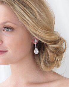Dareth Colburn Stephanie CZ Wedding Earrings (JE-4057) Wedding Earring photo