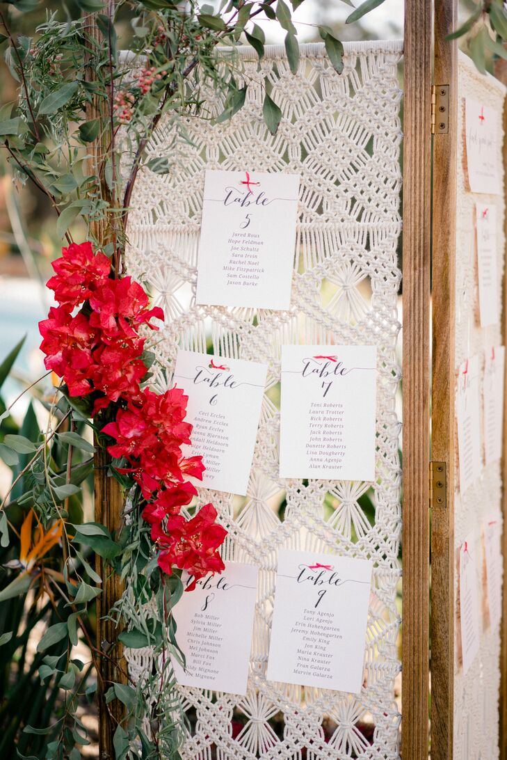 Macramé Seating Chart Backdrop