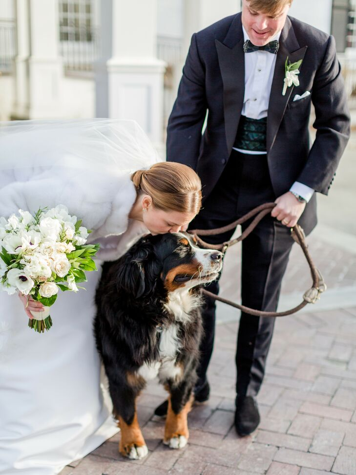 Bride Kisses Dog During Wedding at The Woodstock Inn and Resort in Vermont