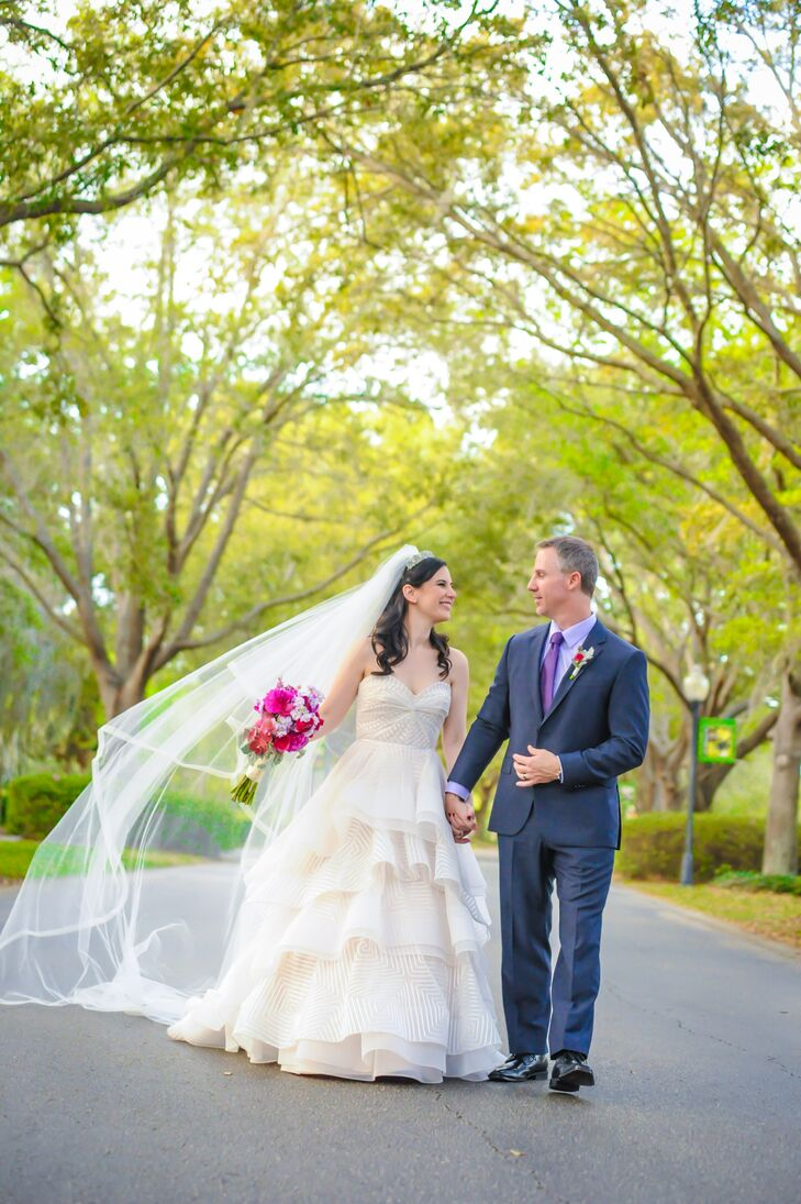 Juliana Acosta (31 and in communications) and Scott Cornelison (45 and an operations executive) met through work and became engaged once Scott went th