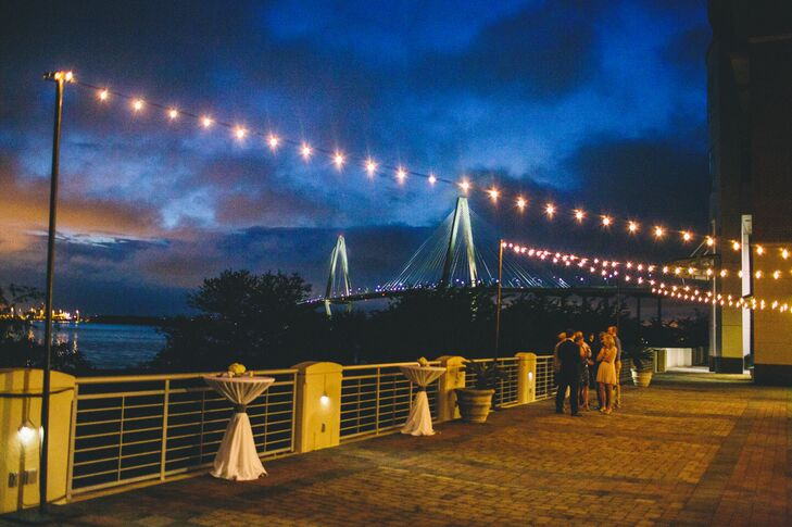 Outdoor Cocktail-Hour Views of Charleston Harbor