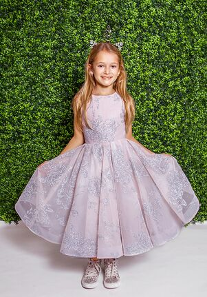 La Petite by Hayley Paige 5821-Charlie Ivory Flower Girl Dress