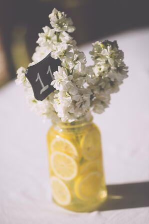 Lemon Water Flower Vase