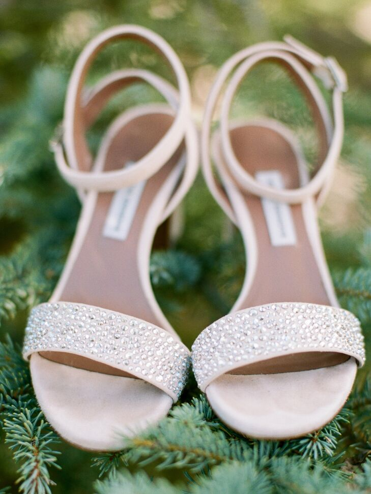 Embellished Nude Bridal Sandals