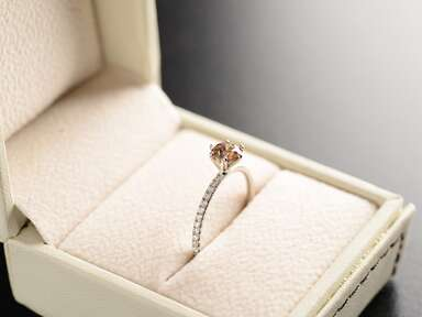 Promise ring in ring box