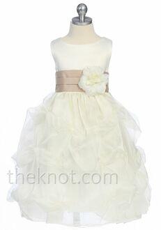 Pink Princess D2150 Brown Flower Girl Dress