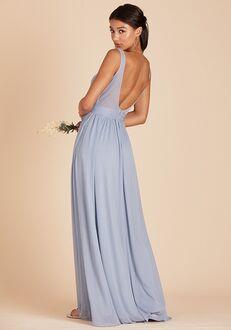 Birdy Grey Jan Scoop Back Dress in Dusty Blue Scoop Bridesmaid Dress