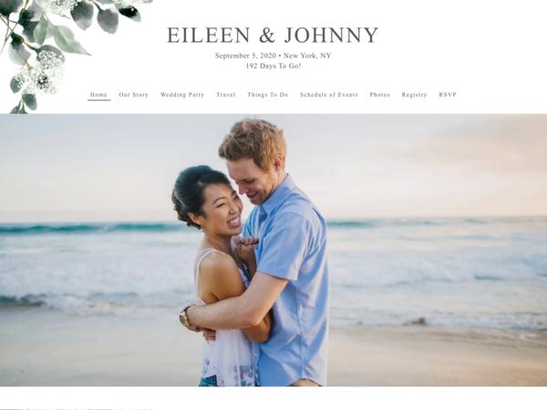 Elegant Greenery Wedding Website Template, The Knot