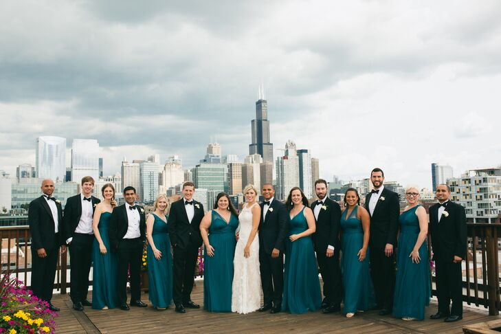 Wedding Party at Bridgeport Art Center in Chicago