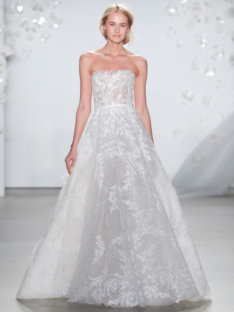 Mira Zwillinger Spring 2020 Bridal Collection strapless A-line wedding dress