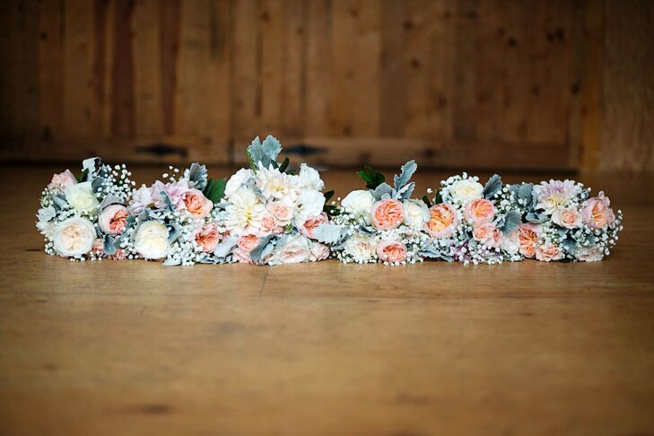 Blush Bouquets with Dusty Miller