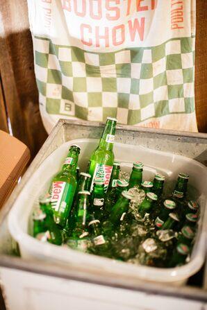 Vintage-Style Glass Soda Bottles at Reception