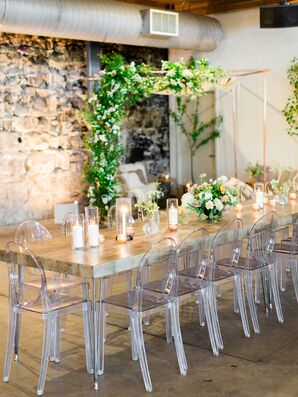 Modern Ghost Chairs at Industrial Farm Table
