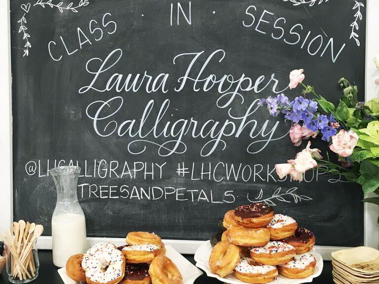 Laura Hooper calligraphy workshop