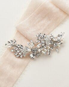 Dareth Colburn Kira Pearl & Crystal Clip (TC-2440) Silver Pins, Combs + Clip