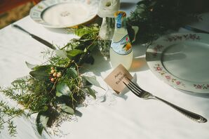 Simple Family Style Table Decor