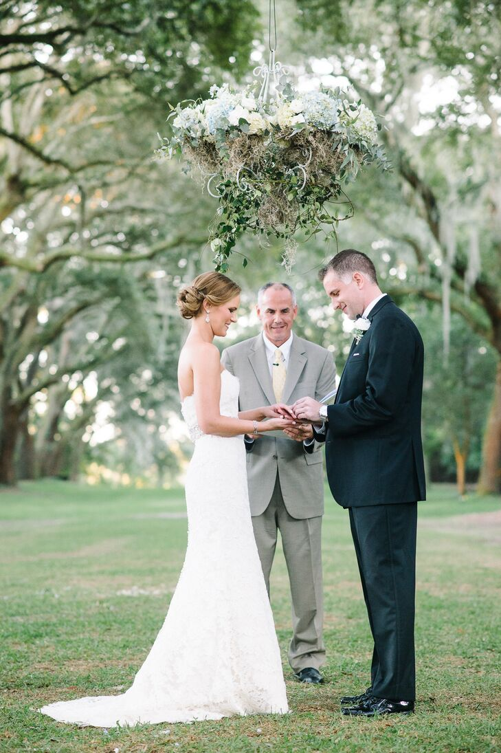 Spanish Moss and Flower Ceremony Chandelier