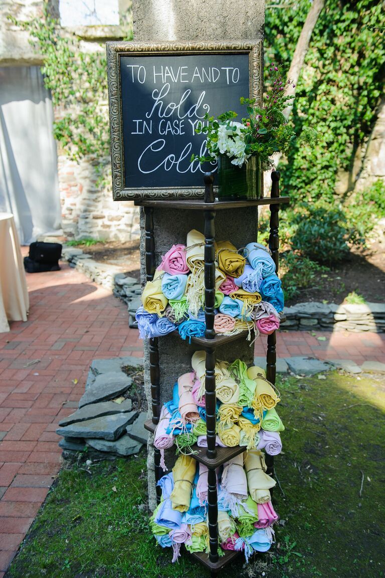 Colorful Fringed Scarf Wedding Favors