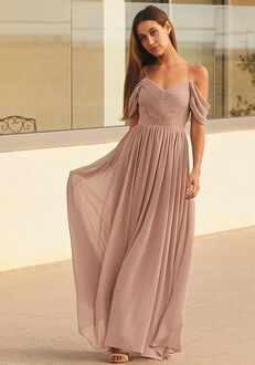 Lulus Lost in the Romance Dusty Rose Cold-Shoulder Maxi Dress Off the Shoulder Bridesmaid Dress
