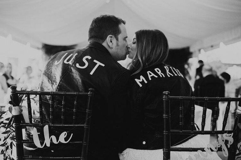 Wedding day Just Married jackets