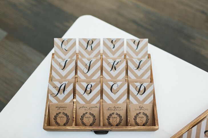 Chevron-Print Escort Cards