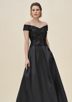 Jade Mother of the Bride by Jasmine J195065 Black Mother Of The Bride Dress