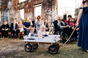 Ring Bearers Processing in Wagon