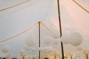 Paper Lantern Reception Tent Lighting