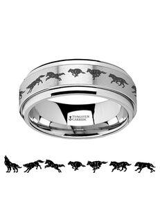 Mens Tungsten Wedding Bands F1406-TCSR Tungsten Wedding Ring