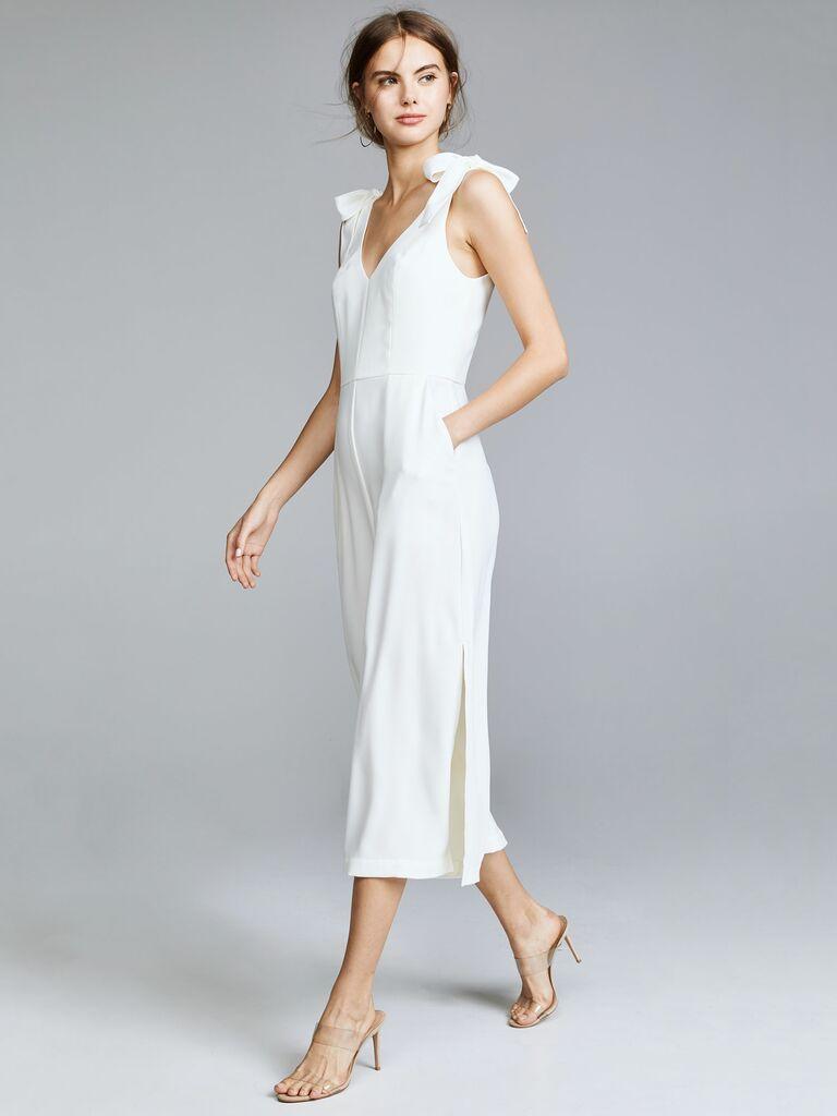 Amanda Uprichard Iris jumpsuit - bridal jumpsuits