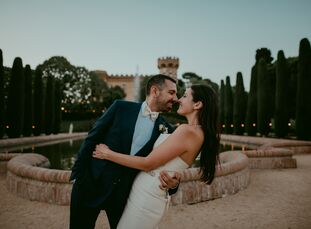Lauren Campbell and Joan Fuste Marinel-lo whisked their family and friends off to Barcelona, Spain, for an elegant wedding with hints of international