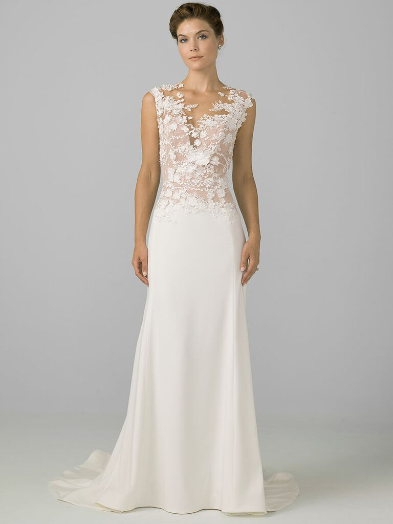 Azul by Liancarlo Fall 2018 wedding dresses floral embroidered bodice