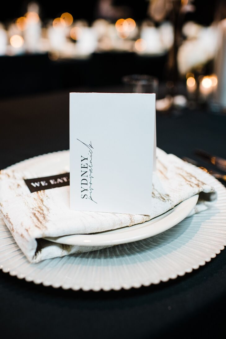 Formal Place Setting with Elegant Dinnerware and Place Card