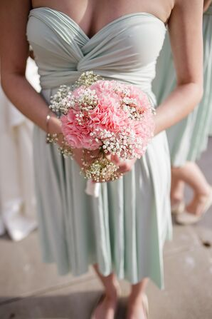 Pink Carnation and Baby's Breath Bouquet