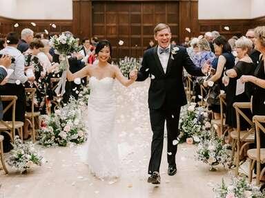 Iowa bride and groom
