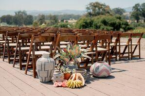 Fruit Aisle Decorations at Dos Pueblos Orchid Farm in California