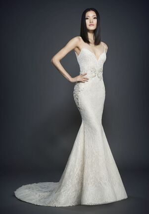 Lazaro 3715 Sheath Wedding Dress