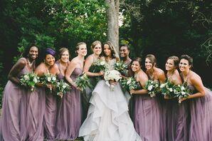 Lavender Floor-Length Bridesmaid Dresses
